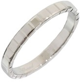 Chopard 18K White Gold Ice Cube Band Ring Size 6.75