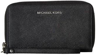 MICHAEL Michael Kors Travel Continental (Black) Continental Wallet