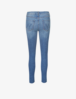 Mother The Looker skinny high-rise stretch-denim jeans
