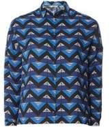 Dorothy Perkins Womens Petite Cobalt Triangle Geometric Print Shirt- Cobalt
