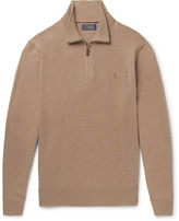 Polo Ralph Lauren - Slim-fit Wool Half-zip Sweater