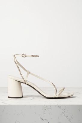3.1 Phillip Lim Drum Crystal-embellished Leather Sandals - Ivory