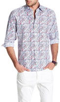 Tailorbyrd Woven Print Trim Fit Shirt