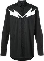 Neil Barrett lightning motif dress shirt