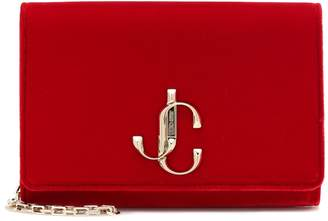 Jimmy Choo Varenne velvet clutch
