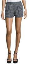 See by Chloe Slim-Leg Printed Shorts, Black/White