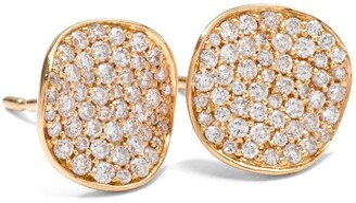 Ippolita 18kt yellow gold small Stardust Flower pave diamond studs