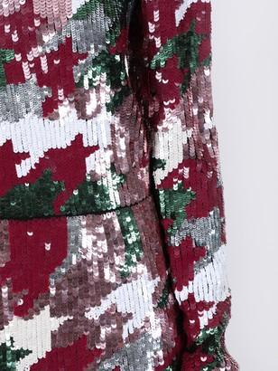 La DoubleJ Gala Houndstooth Sequin Dress