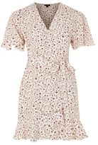 Topshop Daisy print ruffle tea dress