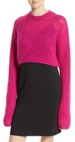 McQ Women's Mohair Blend Crop Sweater
