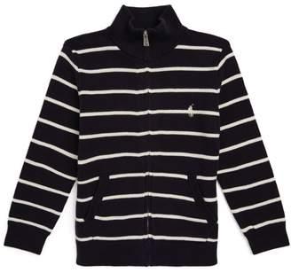 Ralph Lauren Kids Stripe Zip-Up Sweater (2-4 Years)