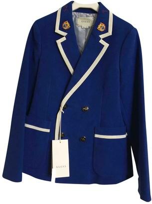 Gucci Blue Cotton Jackets & Coats