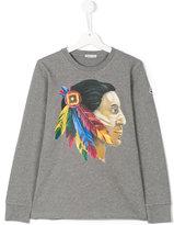 Moncler native american print T-shirt