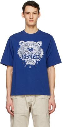 Kenzo Blue Oversized Tiger T-Shirt