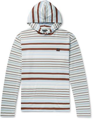 Acne Studios Logo-Appliqued Striped Cotton-Jersey Hoodie