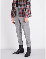 Haider Ackermann Houndstooth Regular-fit Stretch-wool Trousers