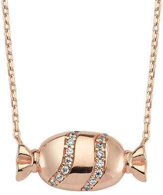 Amorium 18K Rose Gold Over Silver Candy Necklace