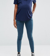 Asos Ridley Skinny Jeans In Cynthia Wash With Under the Bump Waistband