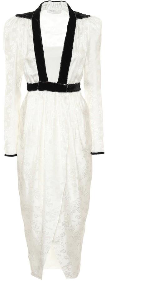 Philosophy di Lorenzo Serafini Floral jacquard satin dress