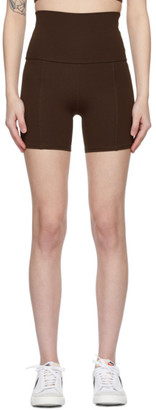 Live The Process Brown Geometric Shorts