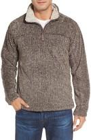 True Grit Men's Frosty Cord Pile Quarter Zip Pullover