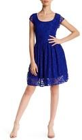 Velvet Torch Lace Skater Dress