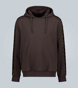 Fendi FF motif hooded sweatshirt