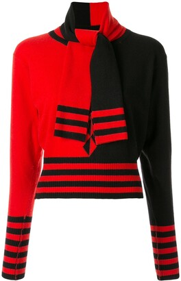 Chanel Pre Owned Scarf Detail Jumper