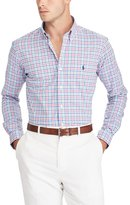 Polo Ralph Lauren Big & Tall Plaid Poplin Long-Sleeve Woven Shirt