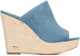 MICHAEL Michael Kors denim wedge mules - women - Leather/Suede/rubber - 6