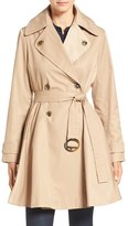 CeCe Women's 'Sarah' Belted Skirted Double Breasted Trench