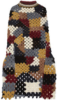 Rosetta Getty Crocheted Alpaca-blend Poncho - Navy