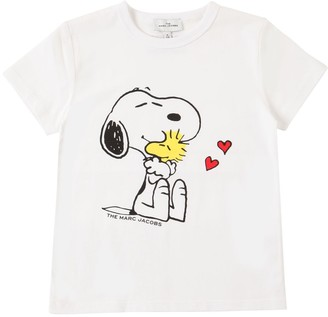 Little Marc Jacobs Snoopy Print Organic Cotton T-Shirt