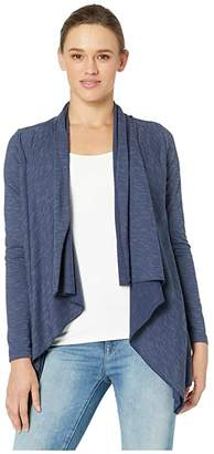 Manduka Breathe Drape Cardigan (Indigo) Women's Sweater