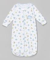 SpaSilk White Dinosaur Sleeping Sack - Infant