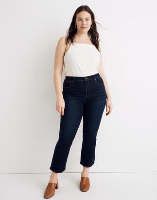 Madewell Petite Curvy Cali Demi-Boot Jeans in Larkspur Wash: TENCEL Denim Edition