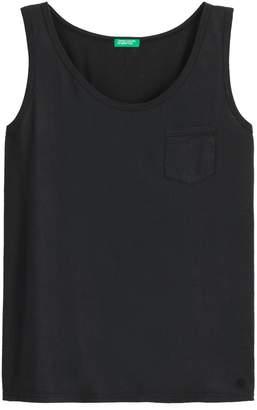 Benetton Cotton Vest Top with Crew Neck