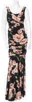 Dolce & Gabbana Sleeveless Rose Print Gown