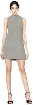 Alice + Olivia Coley Mock Neck Straight A Line Dress
