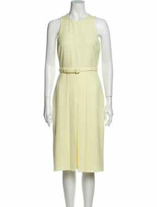 Gucci Crew Neck Midi Length Dress Yellow