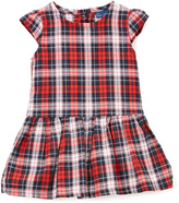 Sweet & Soft Red Plaid Drop-Waist Dress - Infant & Toddler