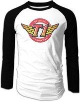 Hera-Boom 2016 LOL World Championship SKT T1 Logo Long Sleeve Baseball Raglan Shirts For Men L