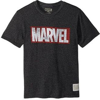 The Original Retro Brand Kids Marvel Short Sleeve Mock Twist Tee (Big Kids) (Mock Twist Black) Boy's T Shirt