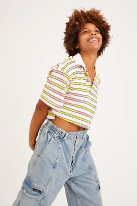 Urban Outfitters Preston Boxy Cropped Polo Shirt