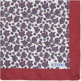 Eton Paisley Silk Pocket Square