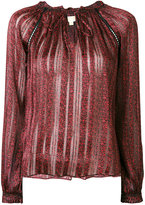 MICHAEL Michael Kors striped neck-tie blouse