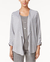 Alfred Dunner Acadia Collection Striped Layered-Look Top