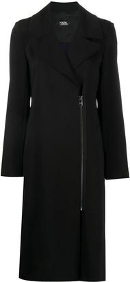 Karl Lagerfeld Paris Two-Tone Pleated Detail Coat