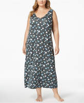 Alfani Plus Size Poppy-Print Nightgown, Created for Macy's