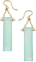 Heather Hawkins Baguette Gemstone Drop Earrings